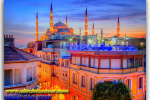The Blue Mosque (Sultanahmet or the Ahmed), Istanbul, Turkey. Travel from Kiev to Ukrainian Tour (044) 360 5737