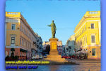 Odessa, Primorsky Boulevard, Duke, Duke de Richelieu monument. Travel from Kiev to Ukrainian Tour (044) 360 5737