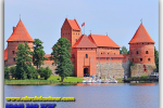 Trakai Castle. Lithuania. Tours of Kiev from the Ukrainian Tour (044) 360 5737