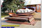 Monument «Poltavskoy dumplings». Travel from Kiev to Ukrainian Tour (044) 360 5737
